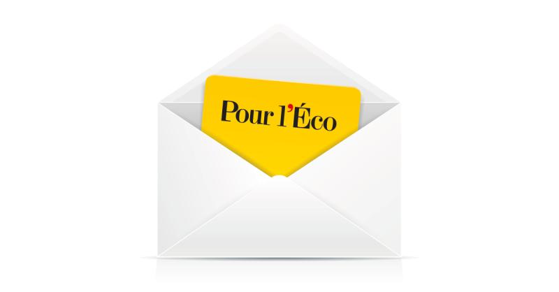 Newsletter Pour l'éco
