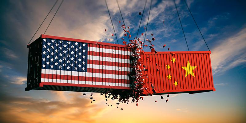 Guerre commerciale entre les deux super-puissances