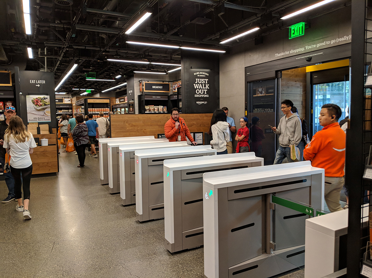 L'enseigne innovante Amazon Go, à Seattle