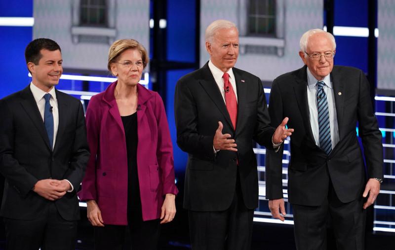 Les 4 principaux candidats démocrates à la Maison Blanche pour 2020.