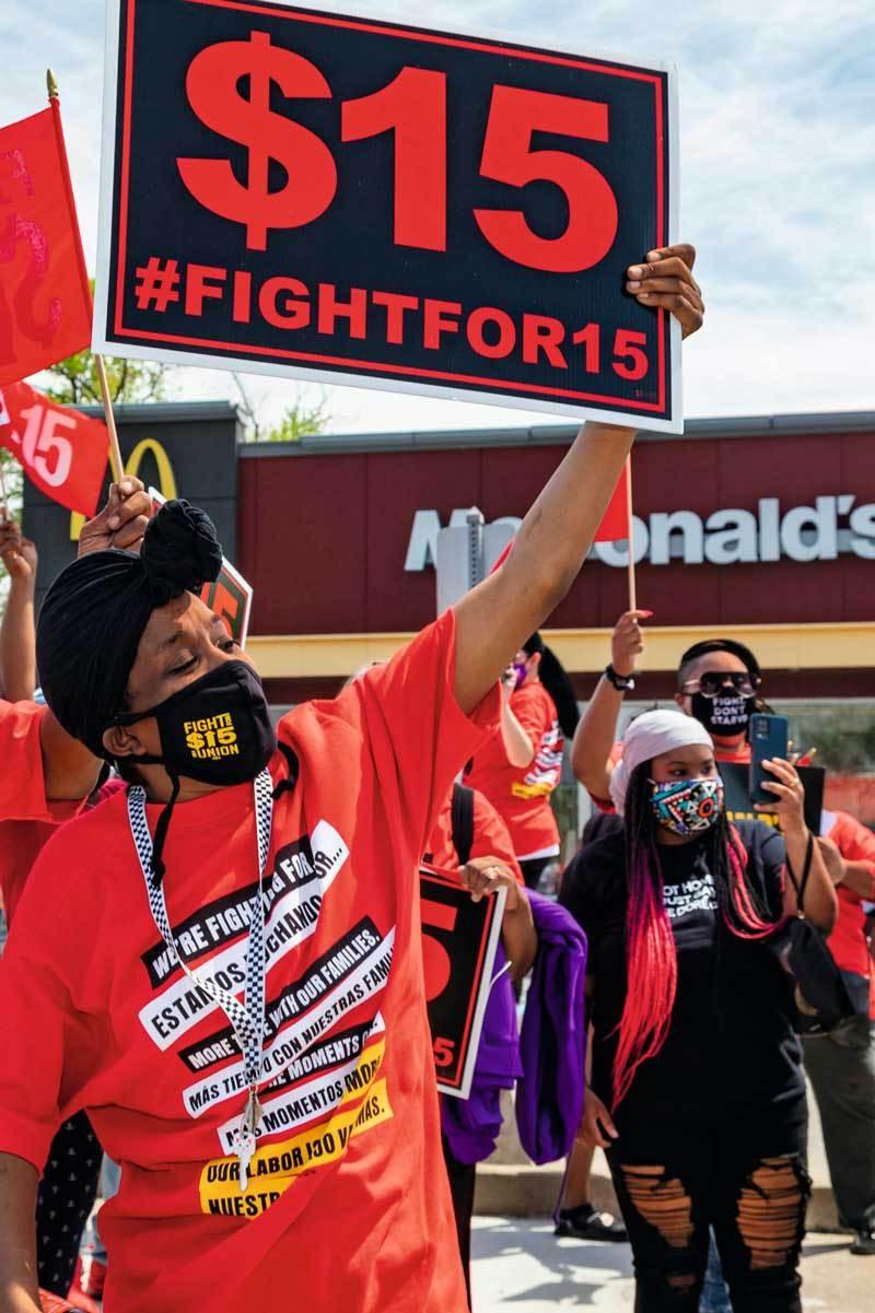Les bas salaires aux États-Unis sont source de protestation